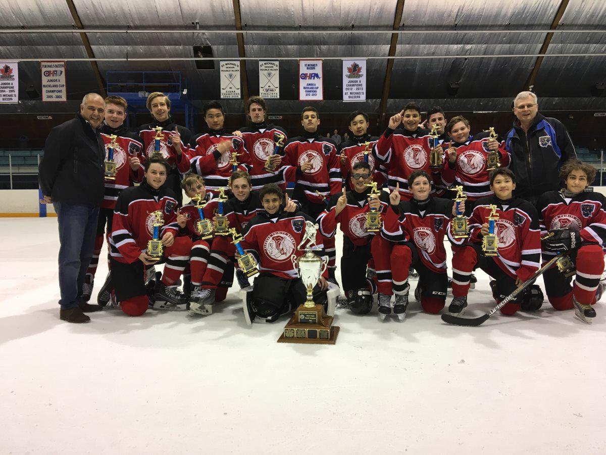Knights 2017 Bantam Champions - Blessed Trinity Hawks