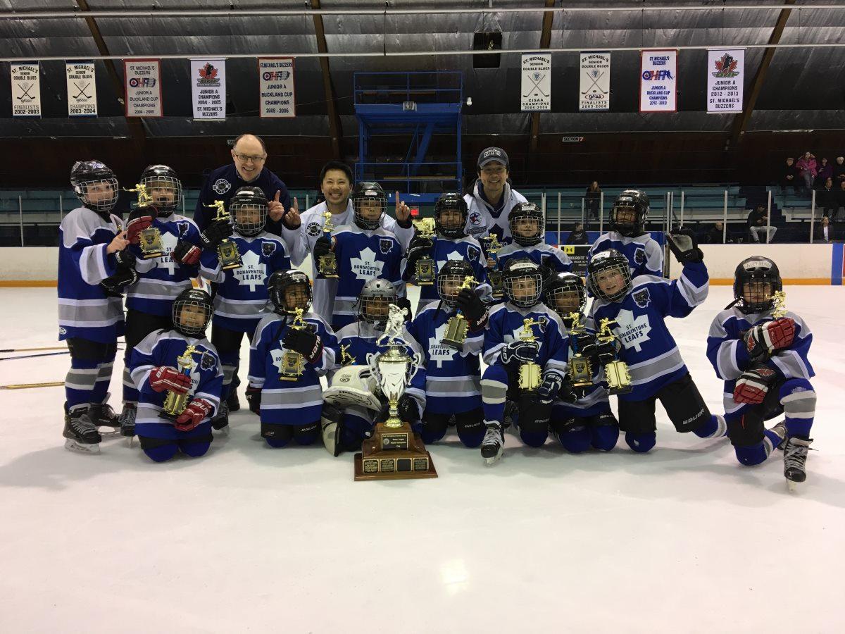 Knights 2017 Novice Champions - St. Bonaventure Leafs