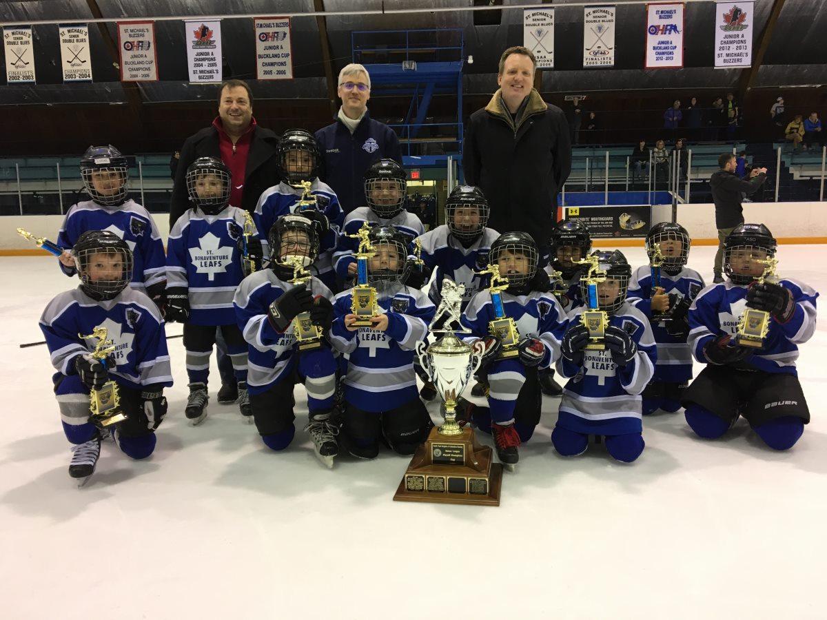 Knights 2017 Tyke-Minor Novice Champions - St. Bonaventure Leafs