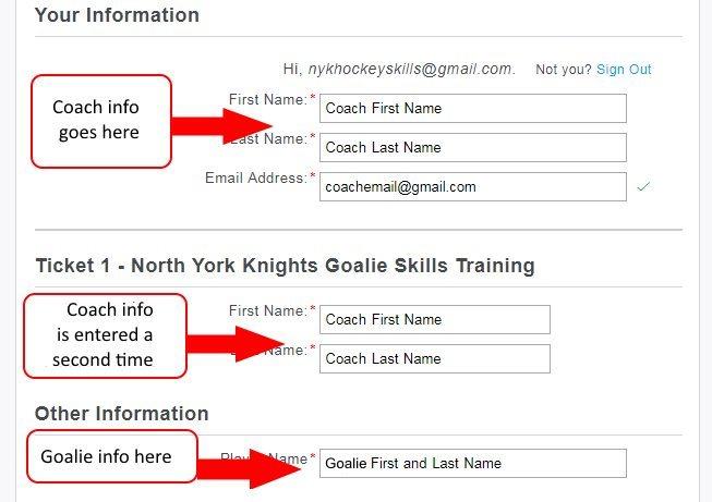 Goalie Registration